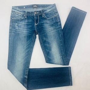 ReRock by Express Womens Jeans 2R Blue Skinny
